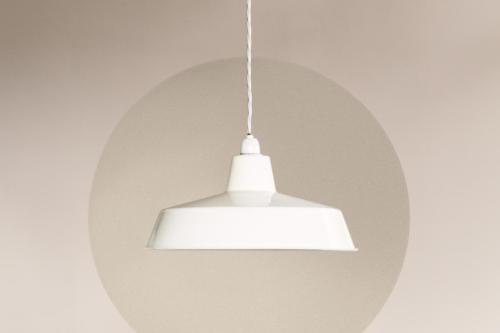 cirkel vit lampa